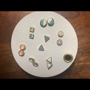 NWT Anthropologie Set of Seven Geometric Earrings